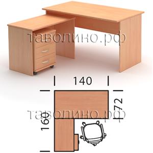 Имаго (imago) угловое рабочее место 140х160х76 (груша / фран.